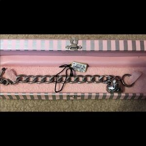 Juicy couture silver charm bracelet in box